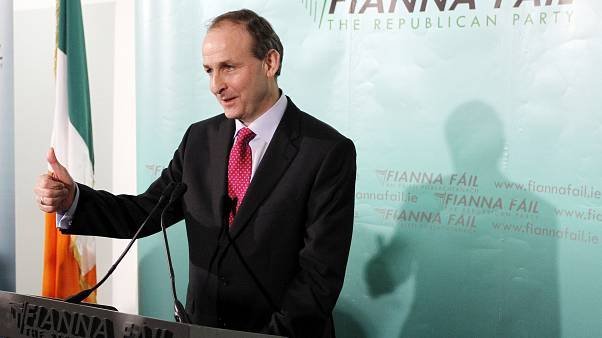 Michael Martin, leader of Fianna Fáil at a press conference in Dublin, Ireland on Jan. 26, 2010