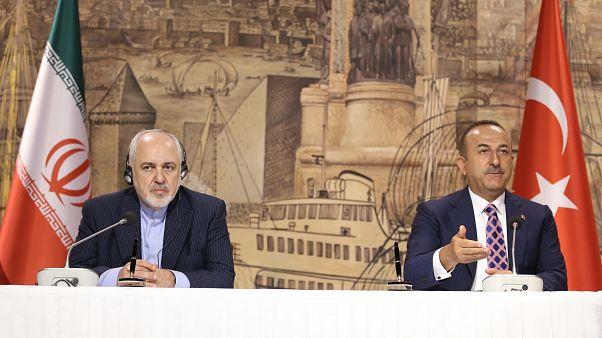 Dışişleri Bakanı Çavuşoğlu İstanbul'da İran Dışişleri Bakanı Zarif ile görüştü