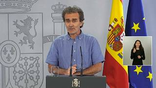 Fernando Simon, director of the Spanish Coordinating Centre for Health Alerts and Emergencies, speaking at a news conference on Friday, June 12, 2020.