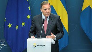 Rueda de prensa del primer ministro sueco Stefan Lofven el pasado 4 de junio