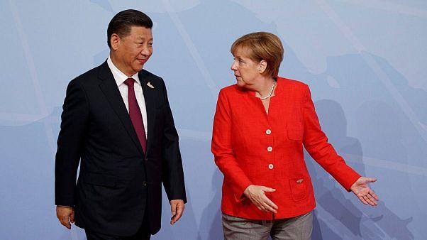 صدراعظم آلمان و رئیس جمهوری چین