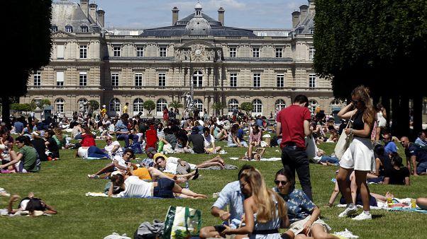 Paris'te Lüksemburg Bahçesi