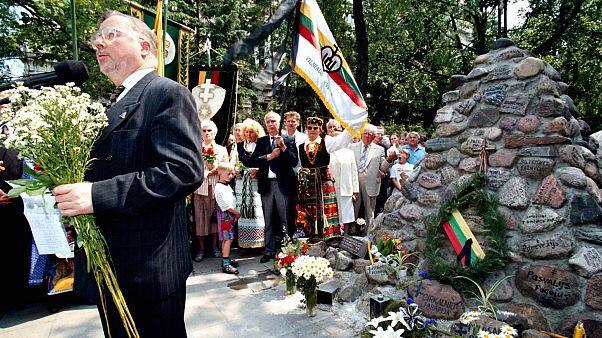 Первый председатель сейма Литвы (1990-1992) Витаутас Ландсбергис (архив)