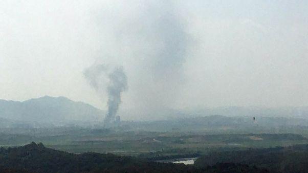Kuzey Kore Kaesong'daki irtibat bürosunu havaya uçurdu
