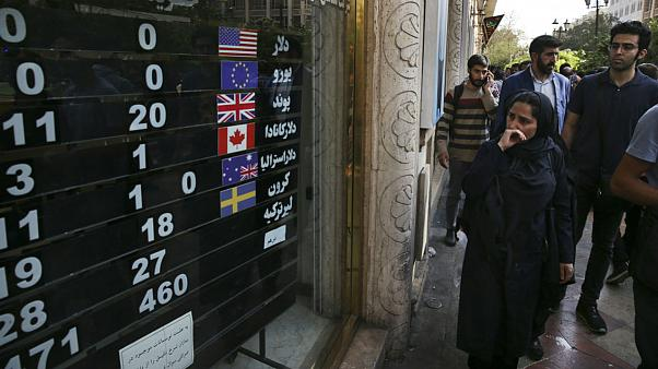 An exchange shop, in downtown Tehran, Iran