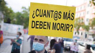 Madrid: Klinik-Personal protestiert für bessere Arbeitsbedingungen