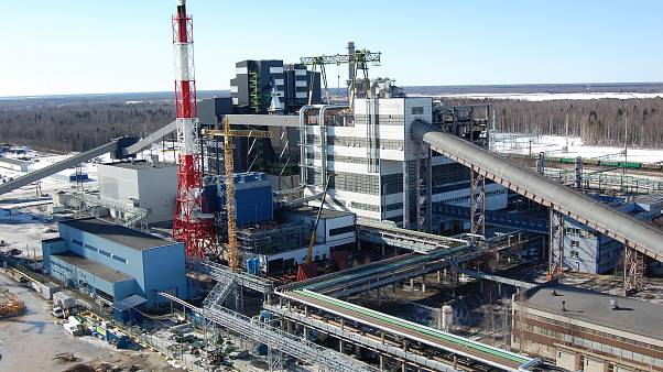 Estonia's state of the art Enefit280 oil shale refinery pictured in March 2013.