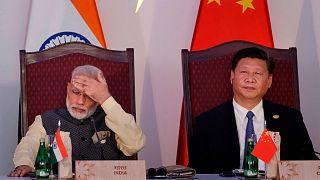 الرئيسان الصيني والهندي