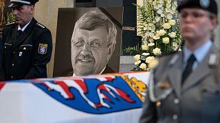A meggyilkolt Walter Lübcke gyászszertartása