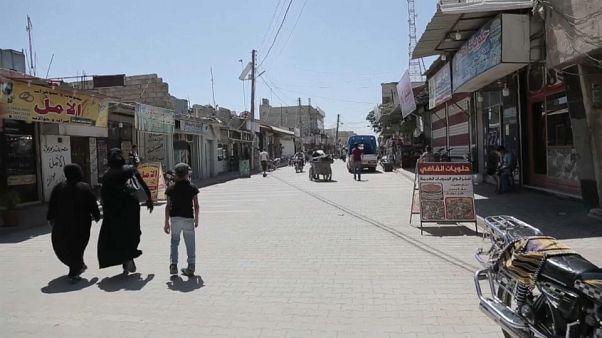 La città di Marea, nella provincia di Aleppo, in Siria