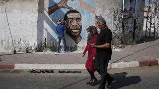 El eco de la muerte de George Floyd llega hasta Gaza