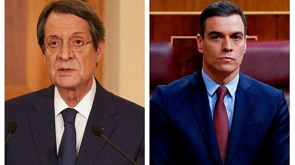 Ο Πρόεδρος της Κυπριακής Δημοκρατίας, Νίκος Αναστασιάδης, και ο πρωθυπουργός της Ισπανίας, Πέδρο Σάντσεθ