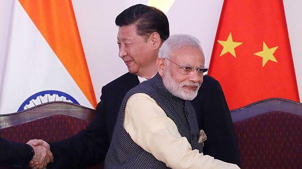 Çin Devlet Başkanı Şi Cinping / Hindistan Başbakanı Narendra Modi (arşiv)