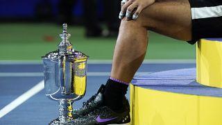 Rafael Nadal après sa victoire contre Daniil Medvedev, le 8 septembre 2019