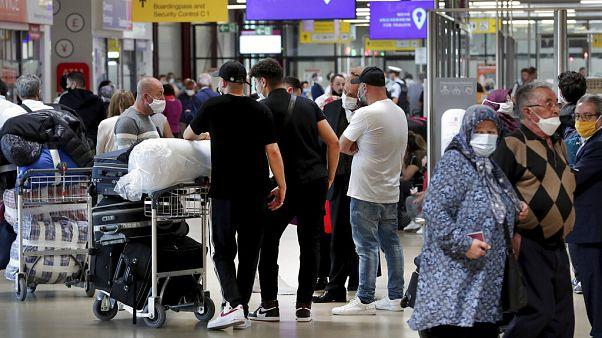 Vor dem Abflug nach Izmir am Flughafen Tegel