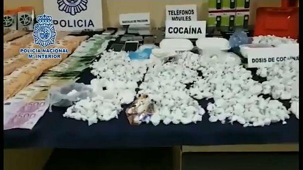Parte del alijo incautado por la policía en Madrid