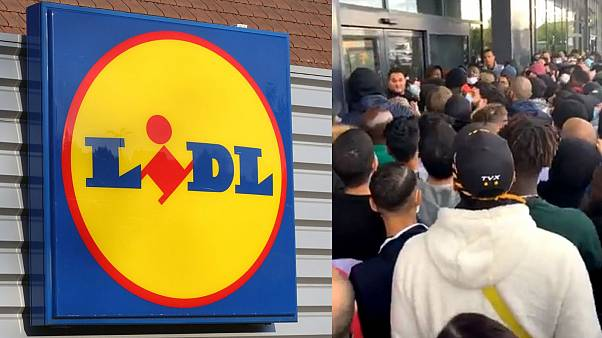 A crowd of 500 people gathered in front of the store on Wednesday, some of which had been camped out the night before.