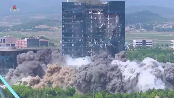 North Korea blows up its joint liaison office with South Korea