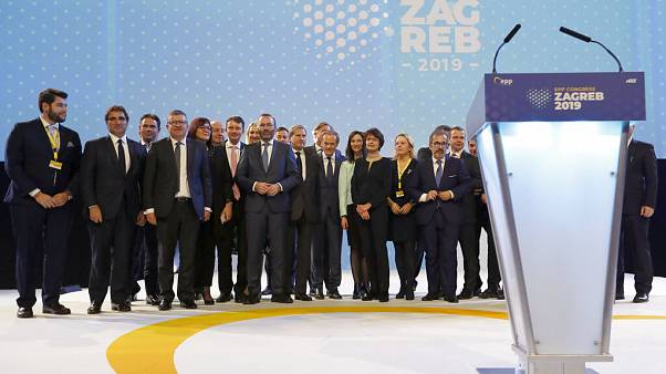 family picture during the European Peoples Party (EPP) congress in Zagreb