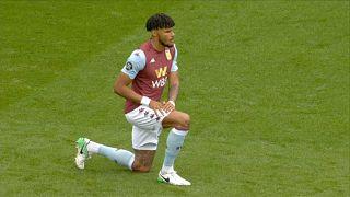 El jugador Tyrone Mings del equipo Aston Villa