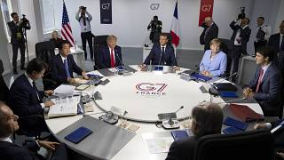 اجتماع قادة دول مجموعة السبع في فرنسا في العام 2019