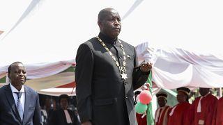 Le nouveau président du Burundi Evariste Ndayishimiye lors de son investiture
