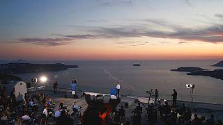 Greek Prime Minister Kyriakos Mitsotakis announces the opening of the tourist season