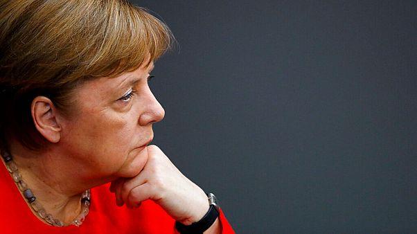 German Chancellor Angela Merkel addresses the parliament Bundestag ahead of a EU summit and Germany's EU presidency.