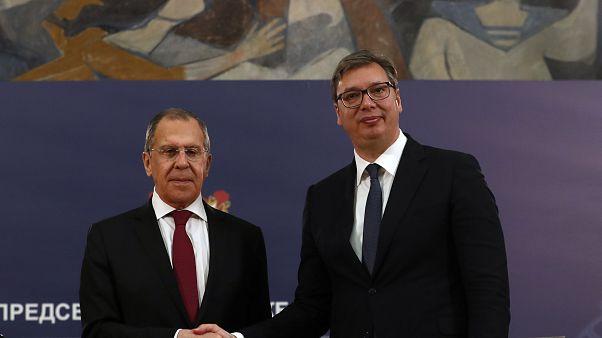 Президент Сербии и глава МИД России