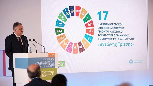 Ο υπουργός Εσωτερικών Π. Θεοδωρικάκος στην παρουσίαση του Νέου Προγράμματος, «Αντώνης Τρίτσης»