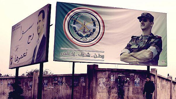 Suriye Devlet Başkanı Beşar Esad posteri