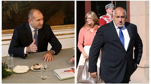 Bulgaristan Cumhurbaşkanı Rumen Radev (solda), Başbakan Boyko Borisov (sağda)