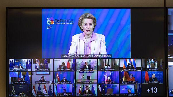 رئيسة المفوضية الأوروبية تتحدث خلال مؤتمر حول مستقبل الشراكة الشرقية  2020/06/18