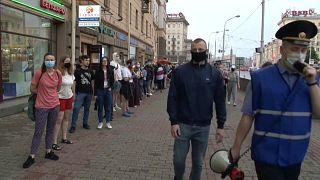 Живая цепь в Минске