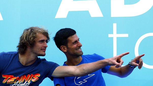 Alexander Zverev és Novak Djokovics