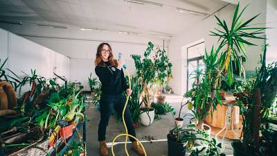 Aistė Virketė rescues plants that no one wants at her plant shelter in Lithuania.