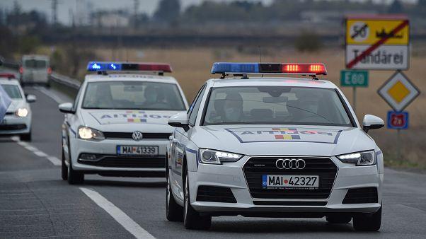 Auto della polizia rumena