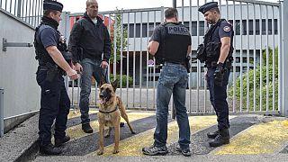 Polizisten in Dijon
