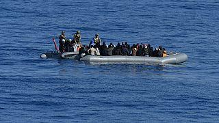 Foto d'archivio: migranti salvati nel Mediterraneo