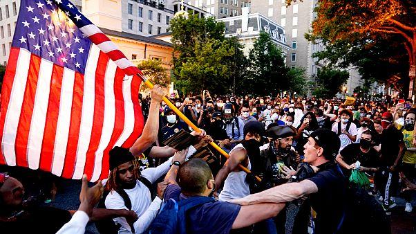 ABD'de polis şiddetine karşı eylem