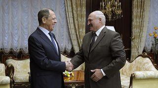 Глава МИД России Сергей Лавров и президент Беларуси Александр Лукашенко.