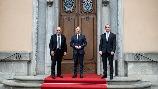 وزاء خارجية فرنسا وألمانيا وبريطانيا