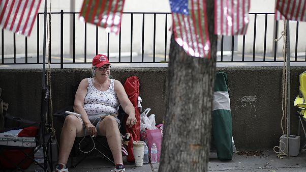 Trump-Anhängerin in Tulsa, Oklahoma