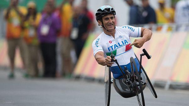 زاناردي خلال مشاركة له في الألعاب البارالمبية الصيفية في ريو دي جانيرو في 2016