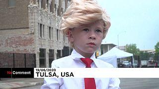 Gyerek-Trump Tulsában