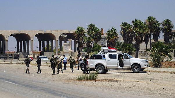 قوات موالية للنظام السوري في منطقة درعا