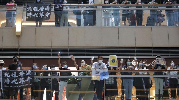 Hong konglu aktivistler, Çin'in yeni  'ulusal güvenlik yasası'nı protesto etti