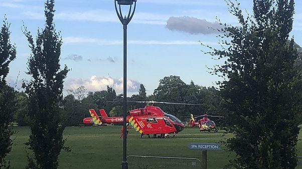 Verletzte wurden mit dem Helikopter abtransportiert