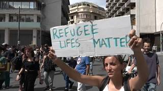 Des centaines de manifestants à Athènes pour la Journée mondiale des réfugiés