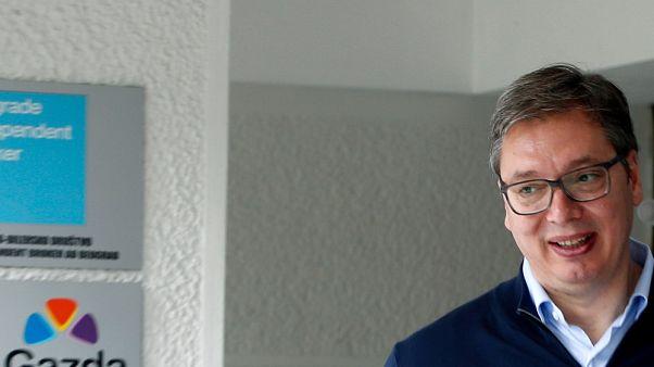 Il presidente serbo, Aleksandar Vucic